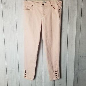NY&Co Light Pink Skinny Jeans
